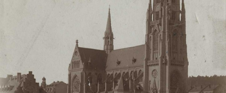St. Josefkirche ca. 1900, [Quelle: Stadtarchiv, gemeinfrei]