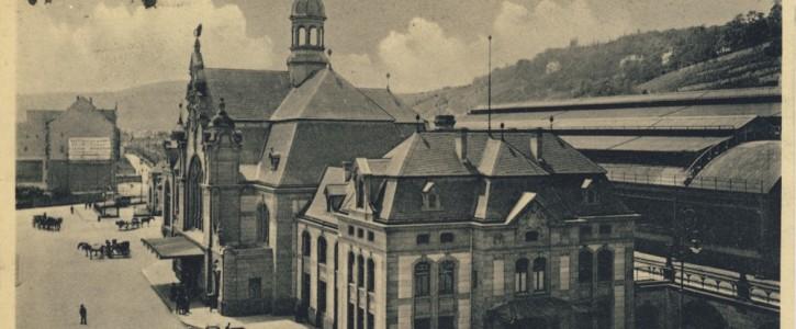 Postkarte Centralbahnhof Koblenz ca. 1910 [Quelle: Ingmar Flach]