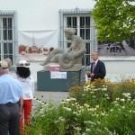 """Enthüllung der Figur """"Frieden"""" [Quelle: Verein der Freunde und Förderer Barbara-Denkmal e.V. Koblenz]"""